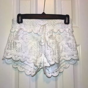 Surf Gypsy Crochet cover up shorts
